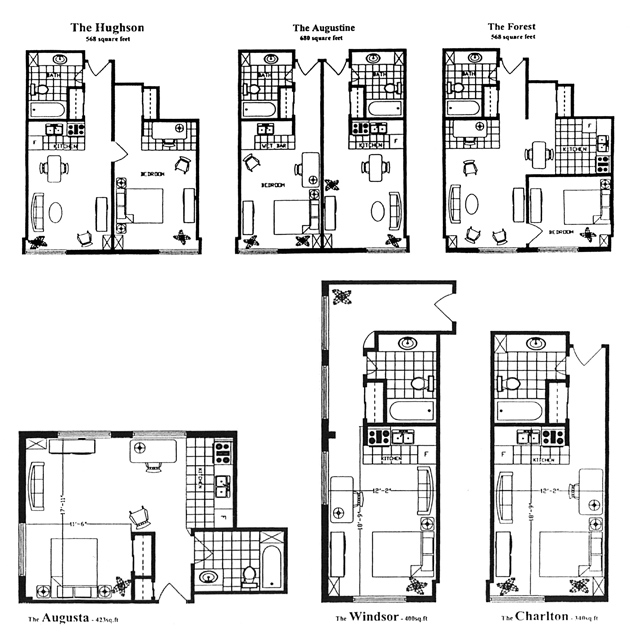 Senior Apartments in Hamilton - Floorplans